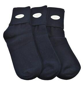 Sierra-Socks-Girls-School-Uniform-3-Pr-Pack-Cotton-Turn-Cuff-Seamless-Toe-W16813
