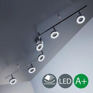 Deckenleuchte LED Lampen Chrom Wohnzimmer Decken-Spot Leuchte ...