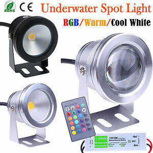 10W LED Outdoor RGB//Warm//Cool Spot Light Floodlight Underwater Pond Landscape