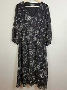 [ JACQUI.E ] Womens Floral Print Dress - As new | Size AU 14 or US 10