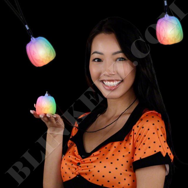 Halloween Color Change Pumpkin LED Light Up Necklace - So ...