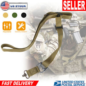Adjustable-Retro-Tactical-Quick-Detach-2-Point-Multi-Mission-Rifle-Sling-US
