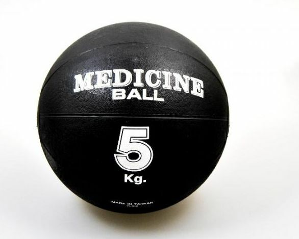 Phönix- Medizinball Gummi 5kg. schwarz. d=22cm.Krafttraining. Boxen. Kampfsport