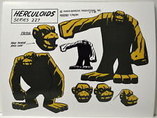 HERCULOIDS MODEL SHEET PRINT - IGOO w Heads Hanna Barbera
