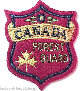CANADIAN FOREST GUARD 1950s EMBROIDERED SOUVENIR PATCH - MADE IN CANADA - NEW - France - État : Neuf: Objet neuf et intact, n'ayant jamais servi, non ouvert. Consulter l'annonce du vendeur pour avoir plus de détails. ... Brand: From an old store Red with Colorful Embroideries: Dimensions : 2.1/4 x 2 inches Country/Region of Manufac - France