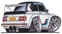 BMW 2002 tii cartoon car t-shirt ti Turbo 1600 SCCA ti 1600 1800 2000
