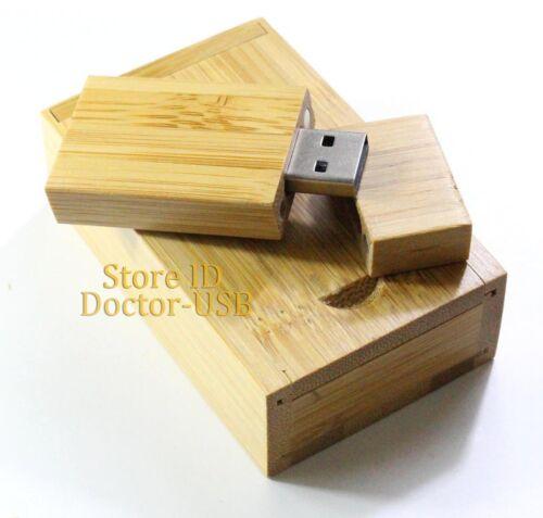 32GB GIGA Wood USB Flash Drive Real Storage Memory Thumb Stick with Case 128MB
