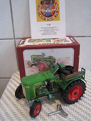 Spielzeug Funktion Noch Nicht VulgäR Blechspielzeug Traktor Trecker Fendt F20 Dieselross 1:25 *neu* M Baufahrzeuge & Traktoren