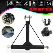 3 Point 2 Receiver Trailer Hitch Category 1 Tractor Tow Drawbar Adapter Us