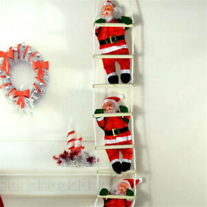 3 Santa Climbing On Rope Ladder Indoor/Outdoor Christmas ...