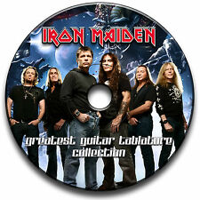 135 IRON MAIDEN ROCK IN METALLO CHITARRA schede tablature SONG BOOK Library Software CD