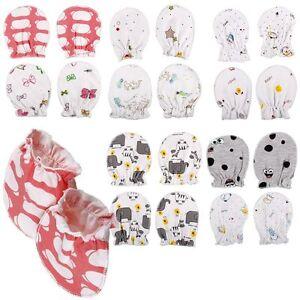 4/8 Unisex Newborn Baby Infant Soft Cotton Handguard Anti Scratch Mittens Gloves