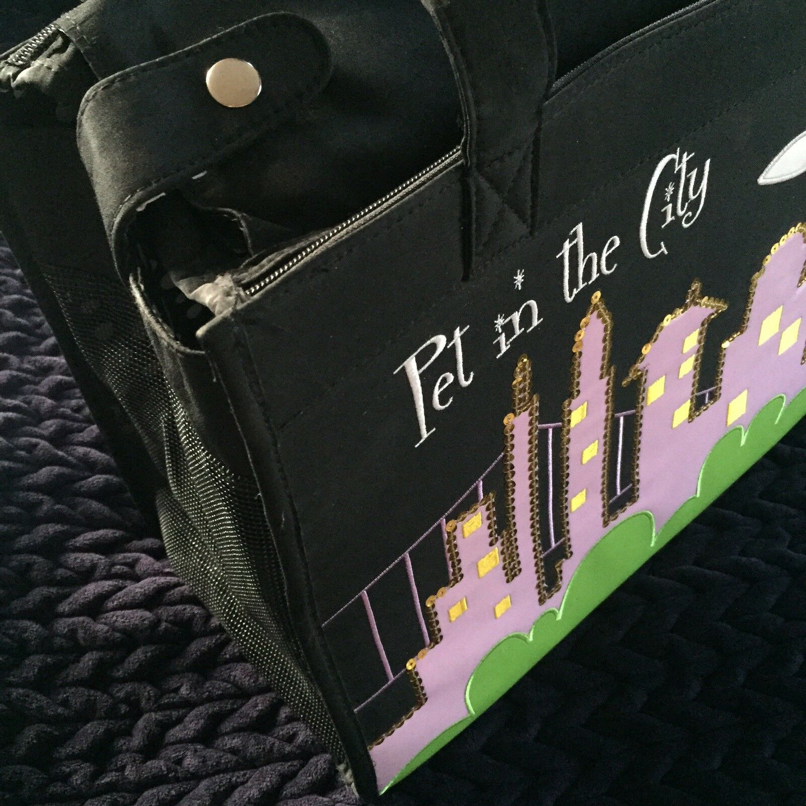 NYC Skylight 'Sex in the City' Style Dog Cat Carrier Case Handbag