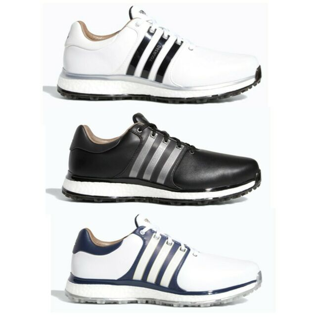 Mens Adidas Tour 360 3 0 Size 9 Golf Shoes White W Black Stripes 738198 For Sale Online Ebay