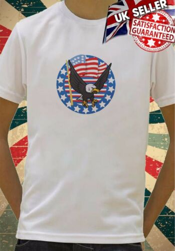 bald eagle stars and stripes usa flag Boys Girls Birthday gift Top T shirt 113