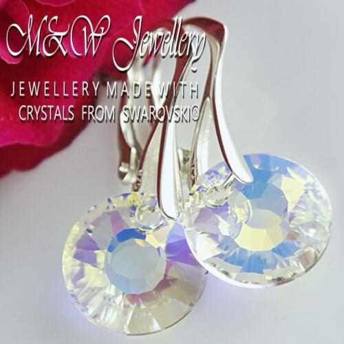 SOL CRISTAL AB Pendientes de plata 925 cristales de Swarovski ® 12 mm