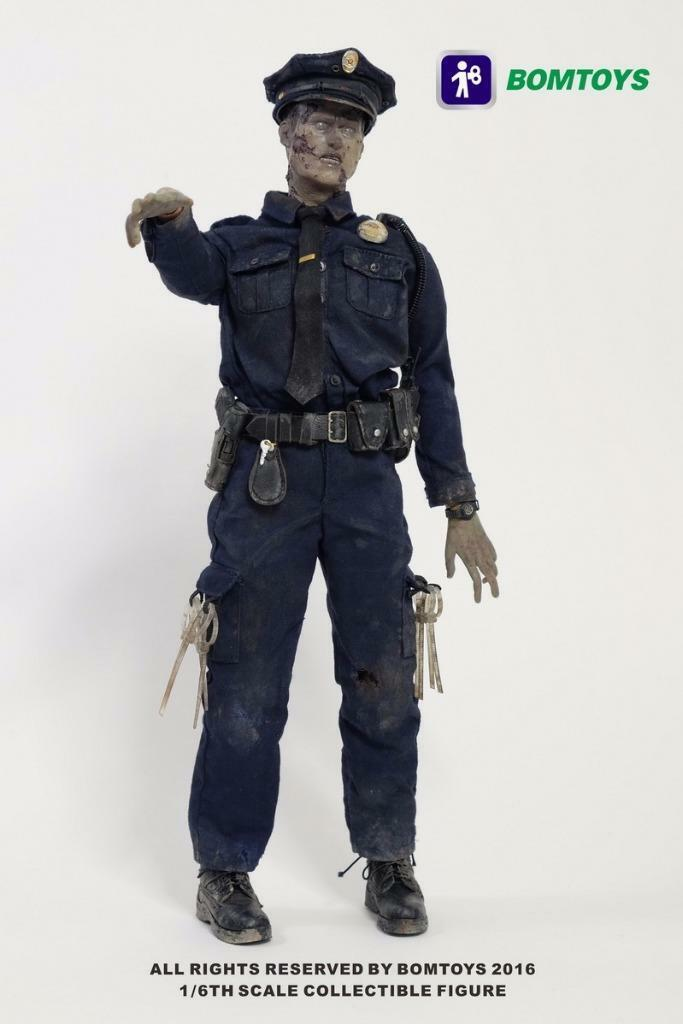 Police Officer Zombie figurine échelle 1 6 scale figure Bomtoys BT-003
