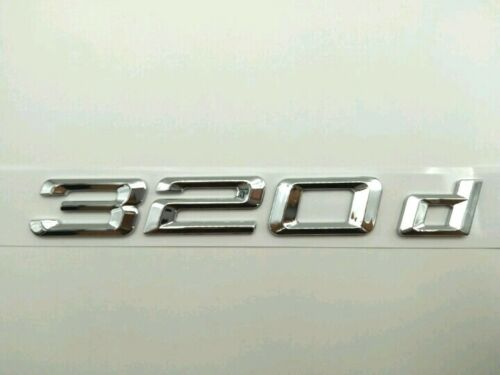 Chrome Letters Number Trunk Lid Rear Emblem Badge for BMW 3 series 320d