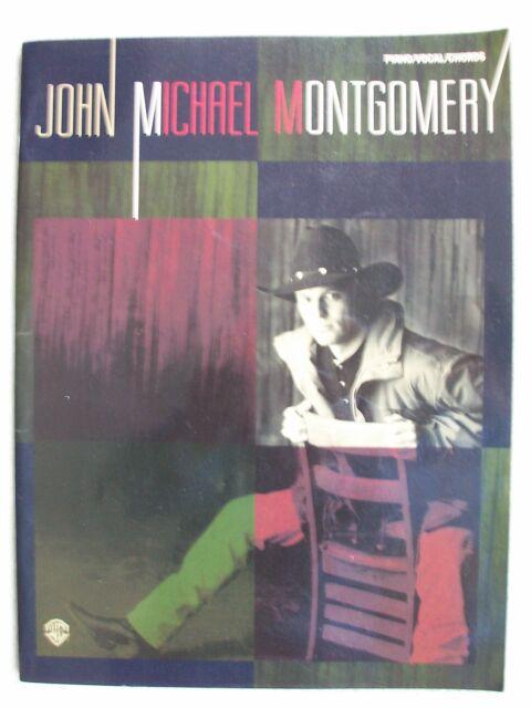John Michael Montgomery 10 Songs Album Voice Piano Guitar + Poster Unmarked