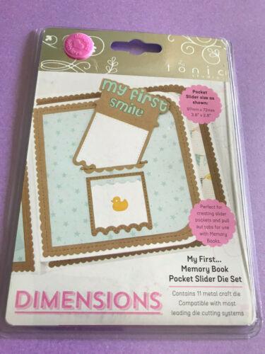 My First Memory Book Pocket Slider Die Set Tonic Studios Dimensions