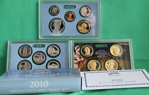 1992 United States Mint ANNUAL Proof 5 Coin Set with Original Box and COA