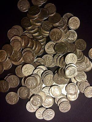 1 TROY POUND LB BAG 90/% SILVER DIMES COINS U.S MINTED NO JUNK PRE 1965