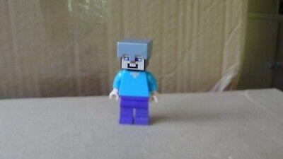 Lego Minecraft Steve min016 From 21141 Helmet Minifigure Figurine Minifig New