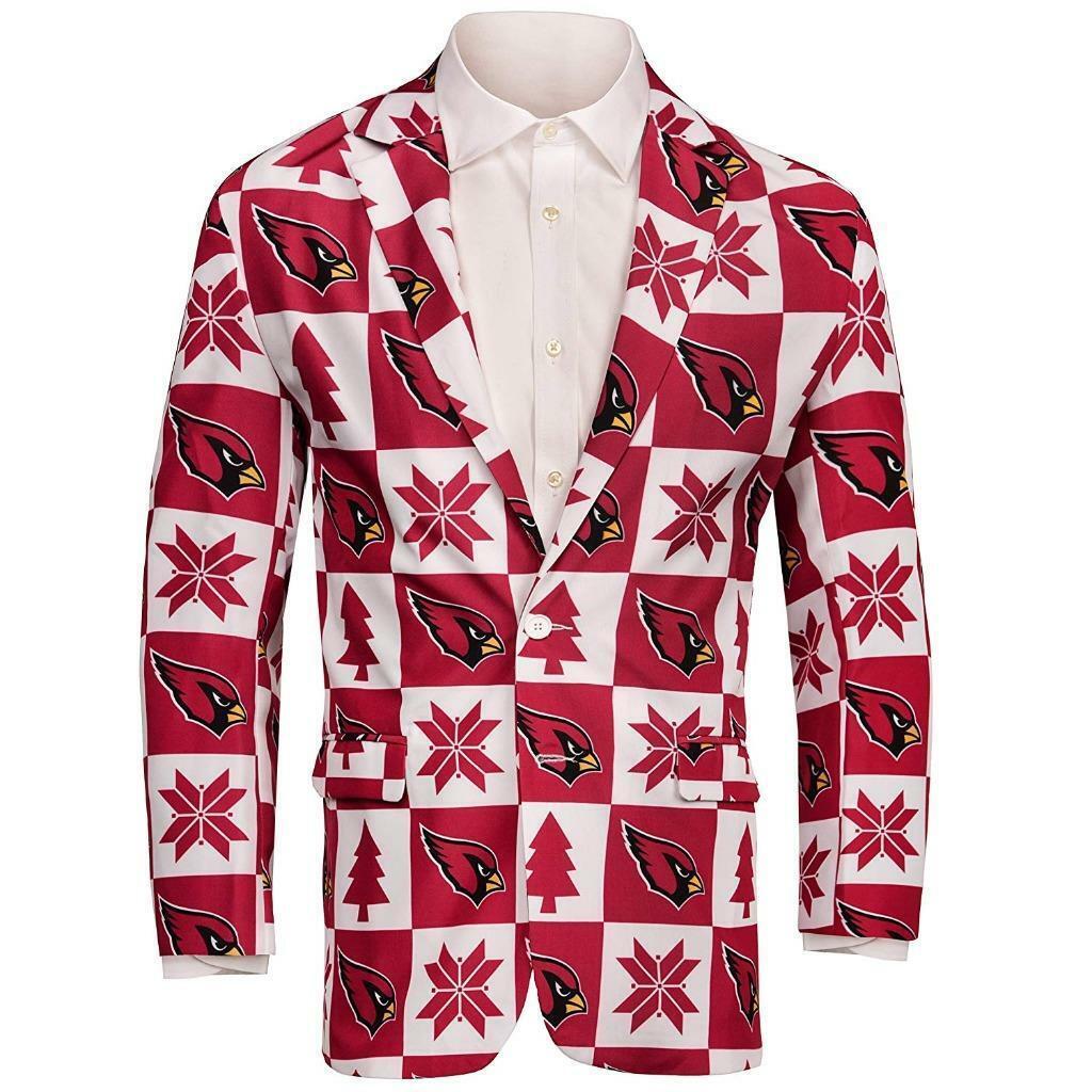 Arizona Cardinals Súper Diverdeida Sport Abrigo Talla (50) XXL Feo Navidad _ S17