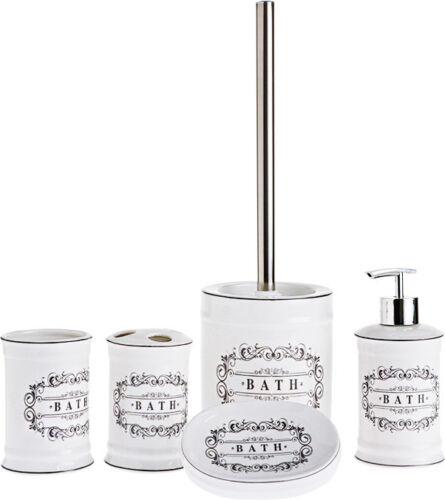 Badezimmer Set 5 Teilig WC Bürste Seifenspender Mundspülbeche Seifenschale