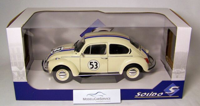"""Solido 1/18: S1800505 VW Beetle 1303 """" Herbie """" Racer #53 - White"""