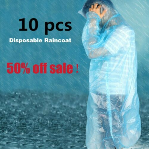 US 10PCS Disposable Adult Emergency Waterproof Coat Clear inventory Half price