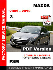 MAZDA 3 2009 2010 2011 2012 OEM WORKSHOP SERVICE REPAIR MAINTENANCE FSM MANUAL