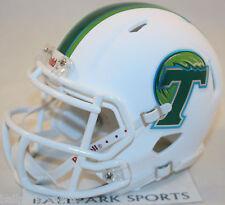 TULANE GREEN WAVE (MATTE WHITE) Riddell Speed Mini Helmet
