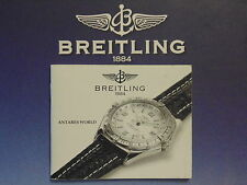 BREITLING PILOT DIVERS WATCH INSTRUCTION MANUAL BOOK GUIDE BOOKLET ANTARES WORLD