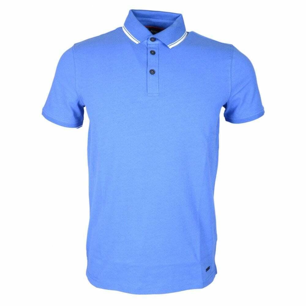 Hugo Boss poltron à hommeches courtes en coton bleu POLO SHIRT