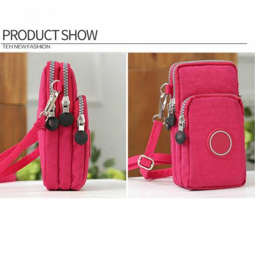 Cross body Bags Mobile Phone Shoulder Bag Purse Wallet Pouch Case Belt Handbag