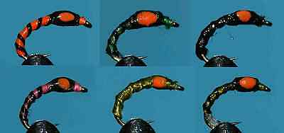 (086)  24 x Glow Buzzer Selection  HAND TIED FLIES TROUT FISHING FLY <>< <><
