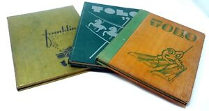 1936-Lot-3-FRANKLIN-HIGH-SCHOOL-SEATTLE-WASHINGTON-ANNUALS-YEARBOOKS-Drawings
