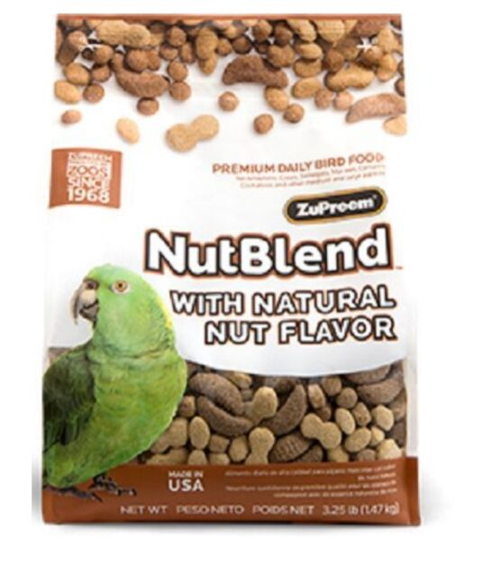 ZUPREEM NUTBLEND COMPLETE PARROT FOOD CONURES, AMAZONS, AFRICAN GREYS,1.5KG