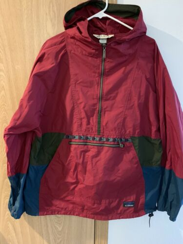 ll bean anorak jacket Large