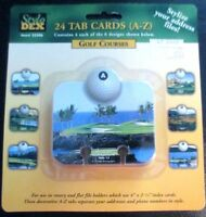 Stylo Dex 24 Tab Cards A-z Golf Course Address File Index 4 X 2 1/4 Rolodex