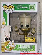 FUNKO POP DISNEY BEAUTY & THE BEAST LUMIERE #93 HT EXC GITD Figure IN STOCK