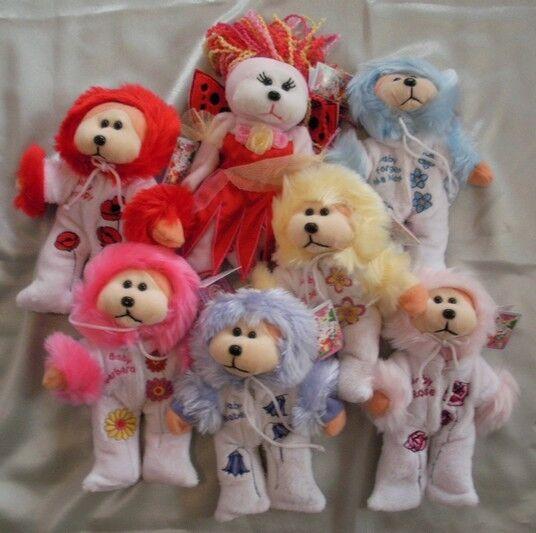 SKANSEN BEANIE KID 2010 FLOWER BABIES REDEMPTION SET OF 7 MINT WITH MINT TAGS
