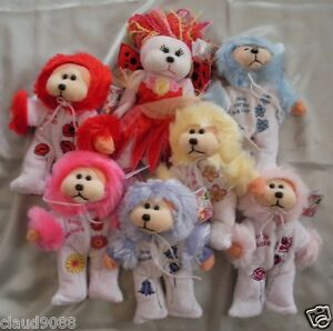 SKANSEN-BEANIE-KID-2010-FLOWER-BABIES-REDEMPTION-SET-OF-7-MINT-WITH-MINT-TAGS