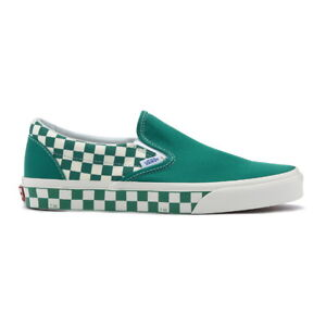 20ece574ed1 Details about New VANS Mens Checkerboard Slip on GREEN   WHITE VN0A38F7RA7  US M 7 - 10 TAKSE