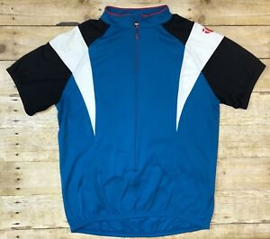 Pearl-Izumi-Men-s-Racing-Jersey-Blue-Cycling-Shirt-Zip-Front-Size-Medium