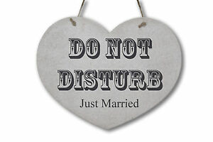 personalised wedding do not disturb sign heart shaped wedding