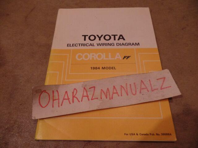 1984 Toyota Corolla Ff Electrical Wiring Diagram Manual
