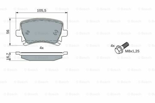 Bosch Brake Pads Set Rear Fits Skoda Octavia 2.0 RS #1 FAST DELIVERY Mk2