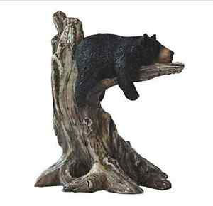 Attrayant Image Is Loading Garden Bear On Log Statue Nature Outdoor Figure